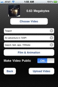 iPhone 4: 720tube para subir vídeos HD a YouTube
