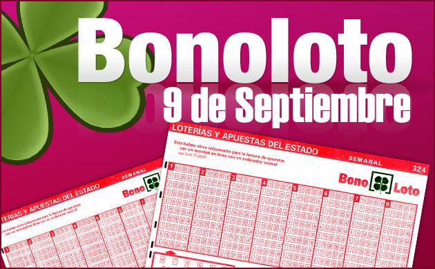 Resultado Bonoloto 9 Septiembre