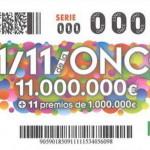 Los numeros premiados 11 / 11 de la ONCE