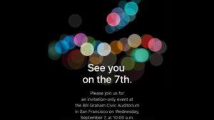 El Iphone 7 será presentado el 7 de septiembre
