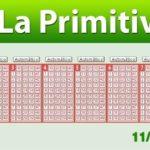 Resultados Primitiva sábado 11 de noviembre
