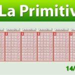 Resultados Primitiva jueves 14 de junio