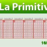 Resultados Primitiva sábado 16 de junio