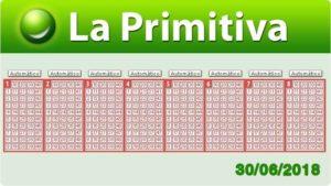 Resultados Primitiva sábado 30 de junio