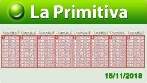Resultados Primitiva jueves 15 de noviembre