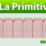 Resultados Primitiva jueves 30 de mayo